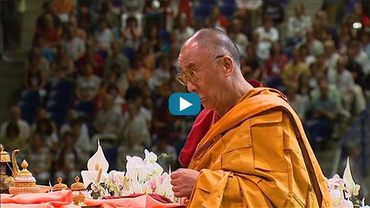 Le Dalaï Lama lors de son voyage en France.