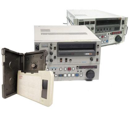 Magnétoscopes de montage BVU et cassette BVU.