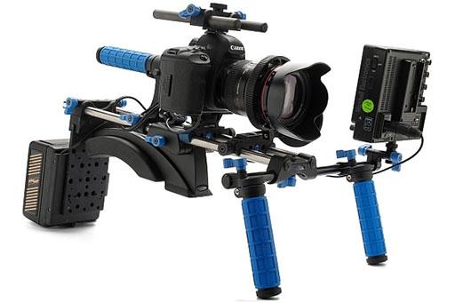 Canon 5D MarkII avec des équipements.
