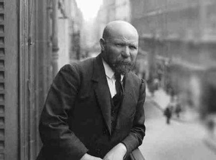 portrait d'Albert Kahn en noir et blanc